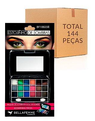 Estojinho de Sombras Cintilantes – Cartela – Bella Femme BF10023B – Caixa Fechada com 144 Peças