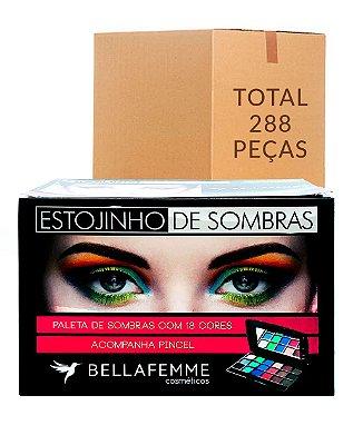 Estojinho de Sombras Cintilantes – Bella Femme BF10021B – Caixa Fechada com 24 Displays