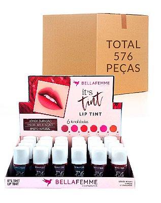 Lip Tint – Bella Femme BF10073 – Caixa Fechada com 24 Displays