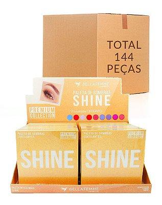 Paleta de Sombras Shine – Bella Femme BF10069 – Caixa Fechada com 12 Displays