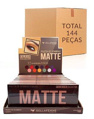 Paleta de Sombras Matte – Bella Femme BF10065 – Caixa Fechada com 12 Displays