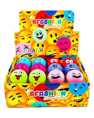 Lip Balm Emoji – BFashion NR50005 – Caixa Fechada com 24 Displays