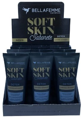 Sabonete Detox com Carvão Ativado – Display com 12 unidades