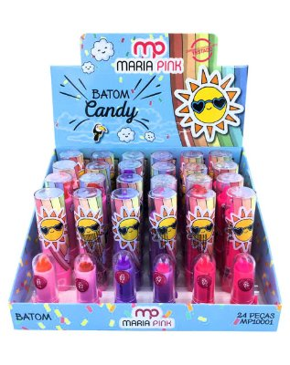 Batom Candy – MP10001 – Caixa Fechada com 24 Displays