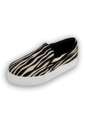 Tenis Lia Slip On Couro Zebra