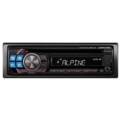 CD/MP3 Alpine IOA CDE-121 c/ entrada USB e Auxiliar