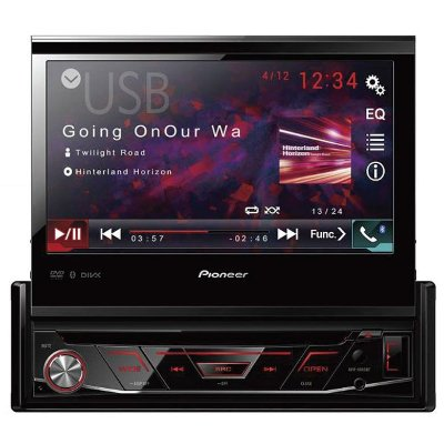 DVD Player Automotivo Pioneer AVH-4880BT Tela Retrátil com Bluetooth e USB