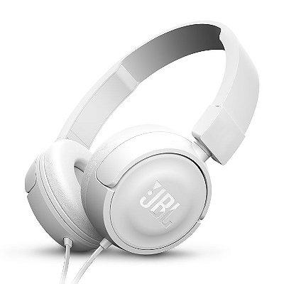 Fone de Ouvido JBL T450 WHT com Kit Comunicação