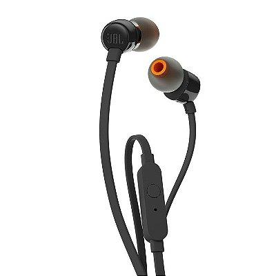 Fone de Ouvido JBL T110 com Microfone - Preto
