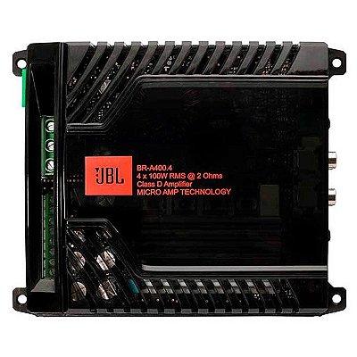 Amplificador JBL BR-A400.4 (4x 100W / 2x 200W RMS)