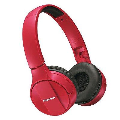 Fone de Ouvido Pioneer SE-MJ553BT com Bluetooth - Vermelho
