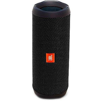 Caixa de Som  JBL FLIP 4 com Bluetooth e Prova de Água - PRETA
