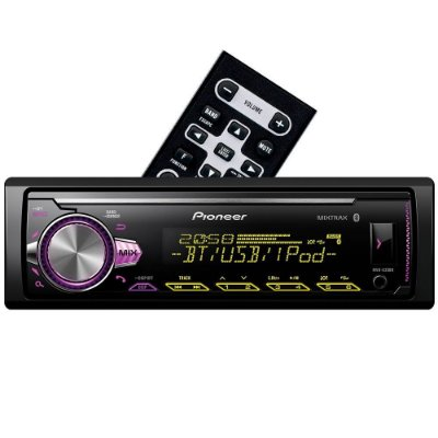 Media Receiver Pioneer MVH-X30BR com USB, AUX, Bluetooth e Mixtrax