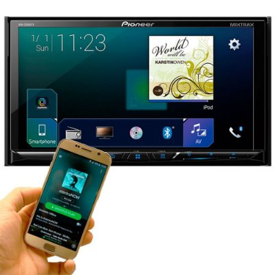 DVD Player Pioneer AVH-Z5080TV 7 Pols. - Bluetooth TV Digital Mixtrax Waze Spotify