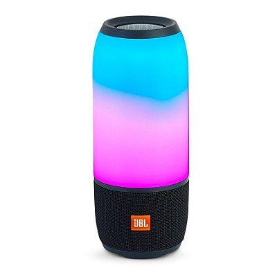 Caixa de Som JBL Pulse 3 Bluetooth e Light Show - Preta