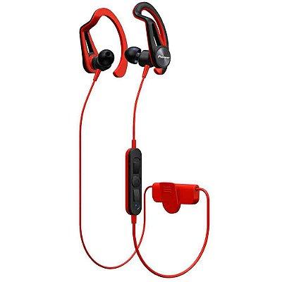 Fone de Ouvido Pioneer SE-E7BT - Bluetooth Sports - Vermelho