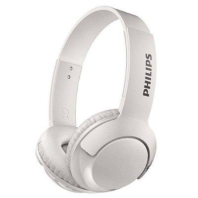 Fone de Ouvido Philips SHB3075 Bass+ e Bluetooth - Branco