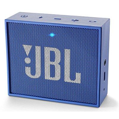 Caixa de Som Portátil JBL GO c/ bluetooth - Azul