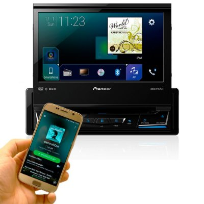 DVD Player Pioneer AVH-Z7080TV 7 Pols. - 1 DIN / Retrátil / Bluetooth / TV / Mixtrax