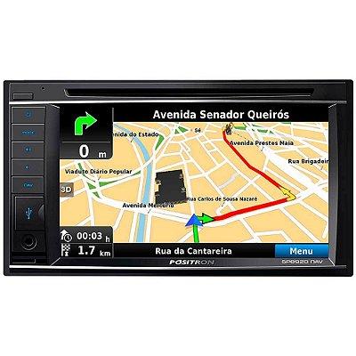 Central Multimídia Pósitron SP-8920NAV - 6.2 pols , TV Digital , Bluetooth , GPS , USB