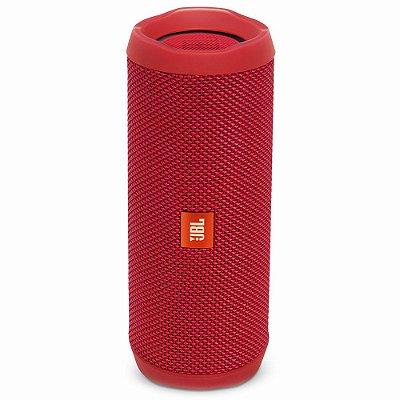 Caixa de Som  JBL FLIP 4 com Bluetooth e Prova de Água - Vermelha