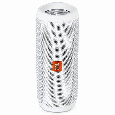 Caixa de Som  JBL FLIP 4 com Bluetooth e Prova de Água - Branca