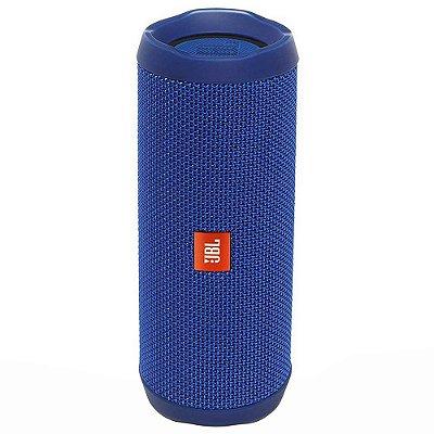 Caixa de Som  JBL FLIP 4 com Bluetooth e Prova de Água - Azul