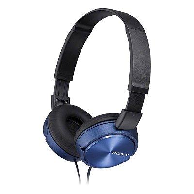 Fone de Ouvido Sony MDR-ZX310AP Headphone com Microfone - Azul