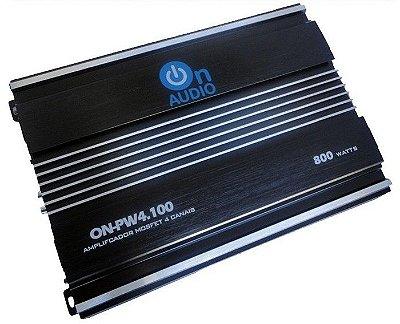 Amplificador On Audio PW4100 (4x 100W / 2x 200W RMS)