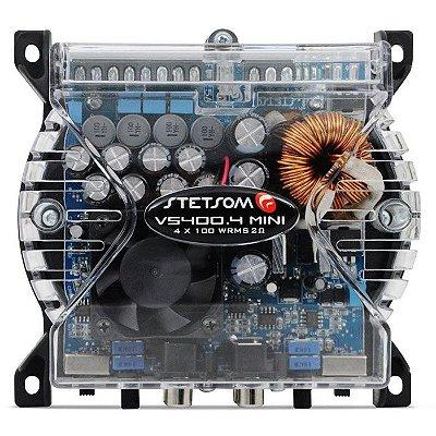 Amplificador Stetsom VS400.4 Mini (4x 100W / 2x 200W RMS)