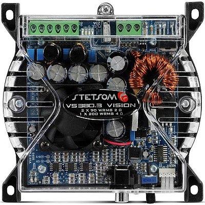 Amplificador Stetsom VS380.3 (2x 90W + 1x 200W RMS)