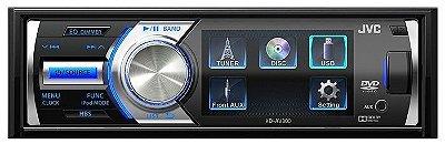 """DVD Player JVC KD-AV300 c/ tela de 3"""" e entrada USB"""