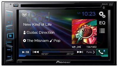 DVD Player Pioneer AVH-278BT c/ entrada USB e Bluetooth