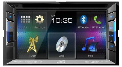 DVD Player JVC KW-V21BT c/ entrada USB e Bluetooth