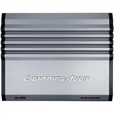Amplificador Lightning Audio LA-4100 (4x 75W / 2x 150W RMS)