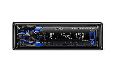 Media Receiver Kenwood KMM-BT308U com Bluetooth e USB