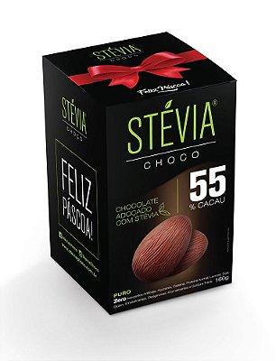 StéviaChoco - Ovo de Páscoa 160g - com 55% cacau - (Adoçado com Stévia)