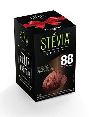 StéviaChoco - Ovo de Páscoa 160g - com 88% cacau - (Adoçado com Stévia)