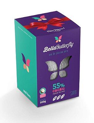 Ovo de Páscoa BELLABUTTERFLY- Puro - 55% cacau - (Açúcar de coco)