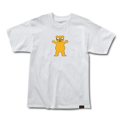 Camiseta Grizzly X Adventure Time Homies Help Homies - Branca