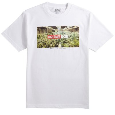 Camiseta DGK X High Times Grow Room - Branca