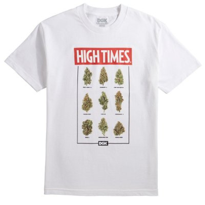 Camiseta DGK X High Times Fire - Branca