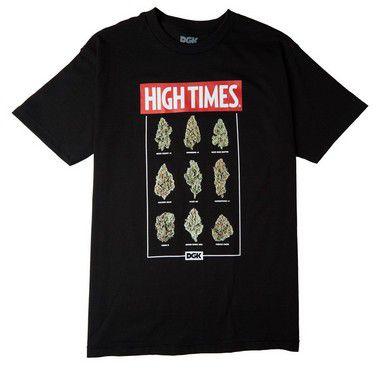 Camisetas  Camiseta DGK X High Times Fire - Preta
