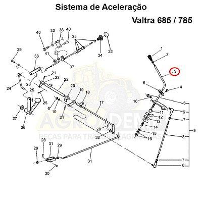 ALAVANCA DO ACELERADOR VALTRA 685 / 785 - 83128300