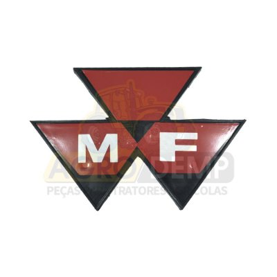EMBLEMA DA GRADE FRONTAL MF MASSEY FERGUSON 50X / 55X / 65X / 85X / 95X - 3147552