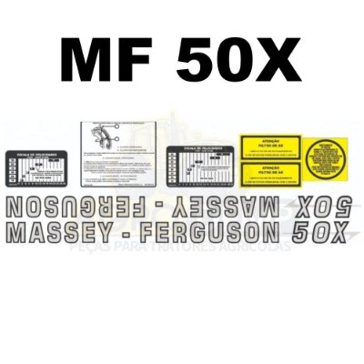 DECALQUE KIT FAIXA JOGO DE ADESIVOS MASSEY FERGUSON - 50X