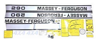 KIT DE ADESIVO (FAIXA DECALQUE) TRATOR MASSEY FERGUSON 290 4X4 - 022032