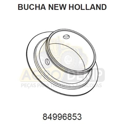 BUCHA DO EIXO DIANTEIRO - FORD / NEW HOLLAND 4630 / 5030 / 5630 / 6630 / 7630 / 7830 E 8030 - 84996853