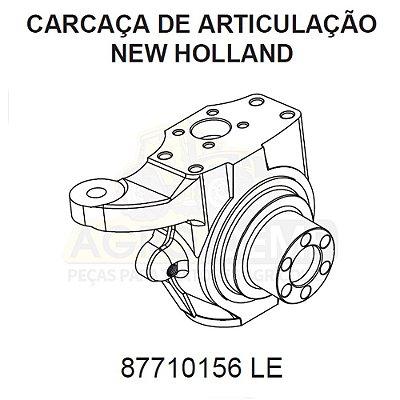 CARCAÇA DE ARTICULAÇÃO TRAÇÃO 4X4 LADO (ESQUERDO) - CASE 580L / 580M E 580N - 87710156