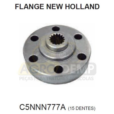 FLANGE TDP 15Z 6 FUROS - FORD / NEW HOLLAND 5600 / 5610 / 6600 E 6610 - C5NNN777A
